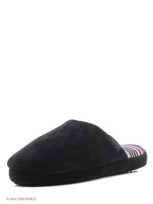 Тапочки Isotoner. Цвет: черный, розовый