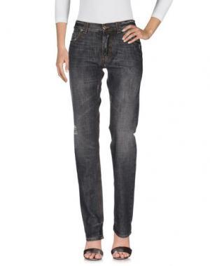 Джинсовые брюки MANUEL RITZ. Цвет: черный