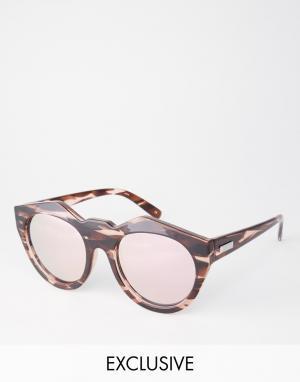Le Specs Зеркальные солнцезащитные очки Exclusive Neo Noir. Цвет: коричневый