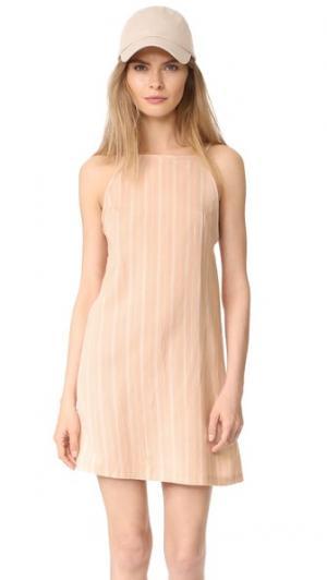 Платье Chelsea Knot Sisters. Цвет: полоска пастельных цветов