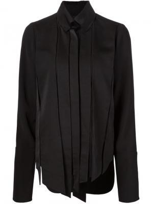 Рубашка с плиссировкой Valery Kovalska. Цвет: чёрный