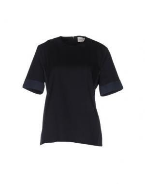 Блузка WOOD. Цвет: темно-синий