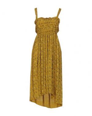 Платье до колена SOUVENIR. Цвет: охра