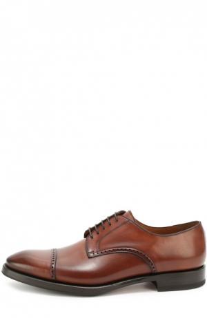 Классические кожаные дерби W.Gibbs. Цвет: коричневый