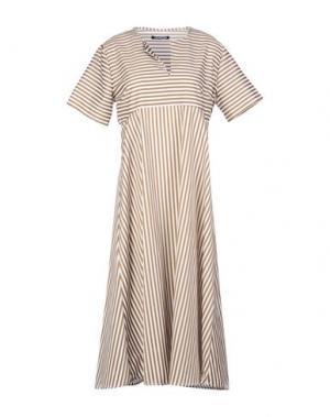 Платье до колена NINEMINUTES. Цвет: бежевый
