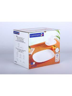 Сервизы столовые Luminarc. Цвет: белый