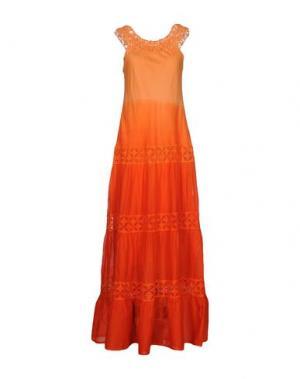 Длинное платье TEMPTATION. Цвет: оранжевый