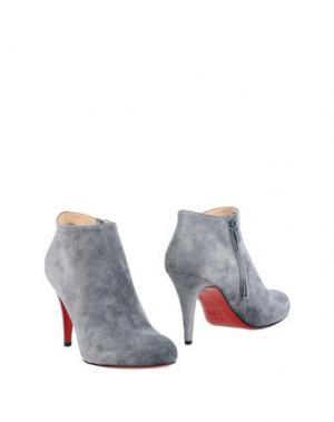 Полусапоги и высокие ботинки CHRISTIAN LOUBOUTIN. Цвет: серый
