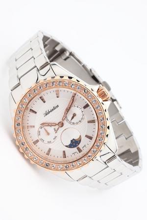 Часы наручные Adriatica. Цвет: розовый