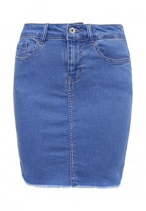 Юбка джинсовая Vero Moda. Цвет: голубой