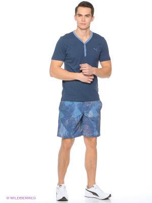Шорты пляжные Graphic 2 Beach Short Puma. Цвет: синий
