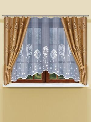 Комплект штор Haft. Цвет: золотистый