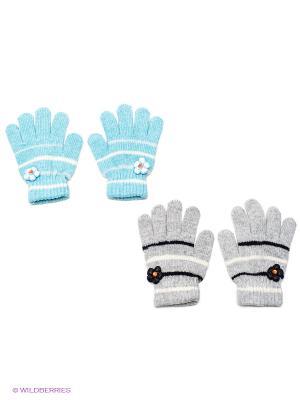Перчатки 2 пары FOMAS. Цвет: серый, голубой