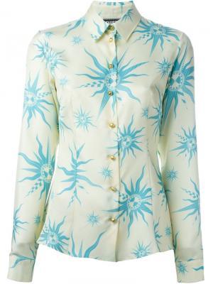 Рубашка с принтом символов солнца Fausto Puglisi. Цвет: телесный