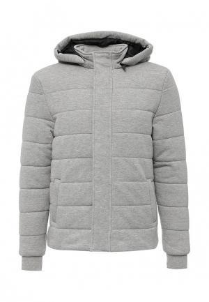 Куртка утепленная oodji. Цвет: серый