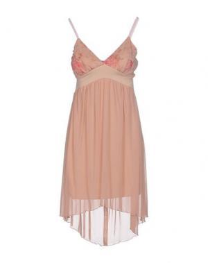 Короткое платье PDK. Цвет: телесный