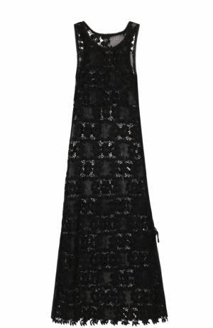 Кружевная туника без рукавов Melissa Odabash. Цвет: черный