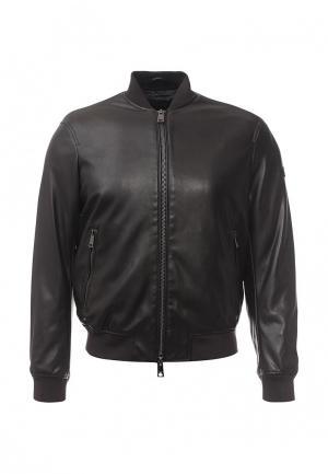 Куртка кожаная Armani Jeans. Цвет: коричневый