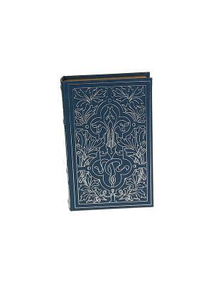Шкатулка-фолиант Геральдическая лилия Русские подарки. Цвет: серо-голубой