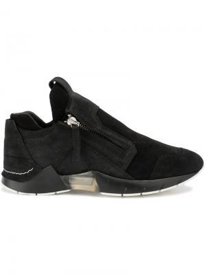 Кроссовки на молнии с панельным дизайном Cinzia Araia. Цвет: чёрный