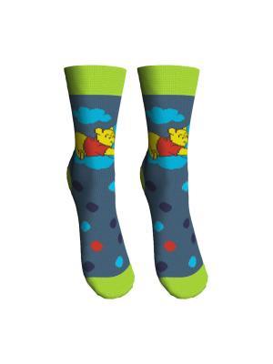 Носки 2 пары Master Socks. Цвет: зеленый, серый