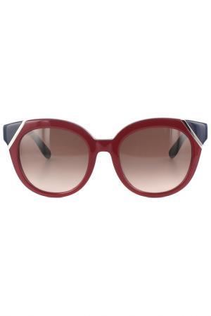 Очки солнцезащитные Salvatore Ferragamo. Цвет: малиновый