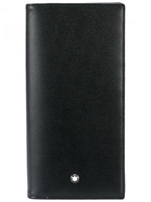 Удлиненный кошелек MST Montblanc. Цвет: чёрный