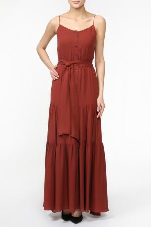 Платье Haute Hippie. Цвет: красный