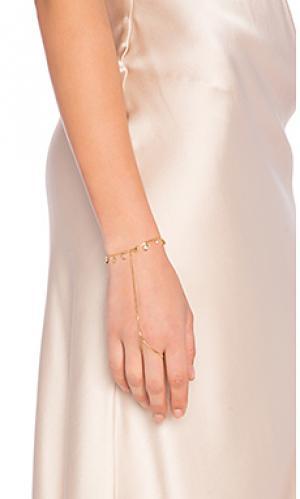 Украшение на руку the hanging gem Luv AJ. Цвет: металлический золотой