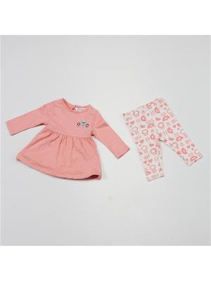 Комплект одежды BABALUNO. Цвет: розовый, белый