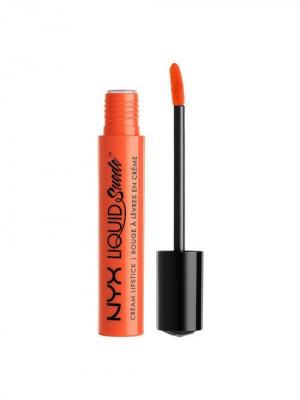 Жидкая губная помада LIQUID SUEDE CREAM LIPSTICK - FOILED AGAIN 14 NYX PROFESSIONAL MAKEUP. Цвет: оранжевый
