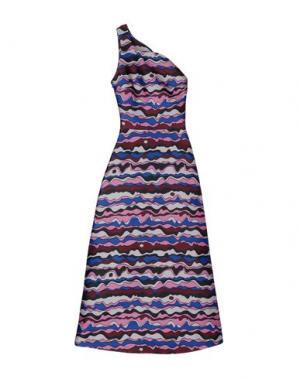 Платье длиной 3/4 ROKSANDA. Цвет: фуксия