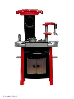 Игровой набор Кухня плита с посудой Winner Toys. Цвет: черный, красный