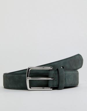 Burton Menswear Зеленый замшевый ремень. Цвет: зеленый