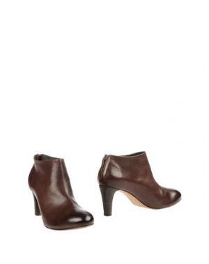 Ботинки EL. Цвет: темно-коричневый