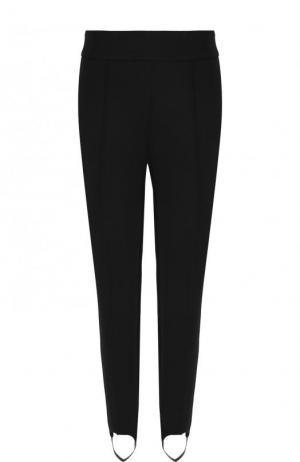 Однотонные шерстяные брюки со штрипками BOSS. Цвет: черный