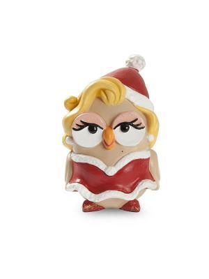 Керамическая статуэтка сова Новогодняя Мэрилин Монро Goofi. Цвет: красный