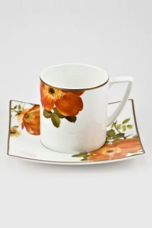 Чайная пара 6 шт. 200 мл Royal Porcelain. Цвет: белый, черный, оранжевый