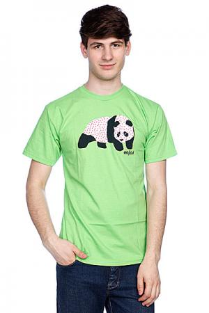 Футболка  Sick Panda Lime Enjoi. Цвет: зеленый