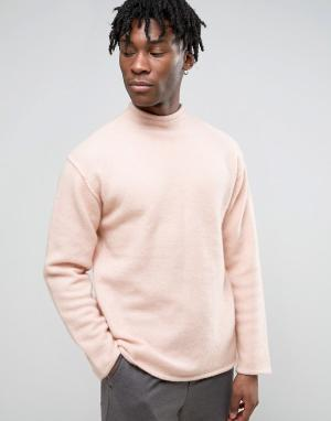 Weekday Свитер. Цвет: розовый