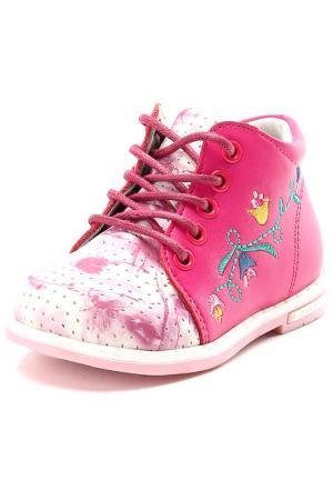 Ботинки Зебра. Цвет: малиновый