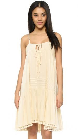 Платье-майка Exhale Flannel Australia. Цвет: оранжевый