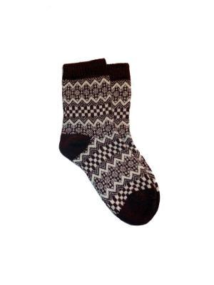 Шерстяные бесшовные носки MilanKo. Цвет: бордовый