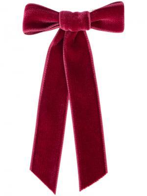 Бархатная заколка для волос Jennifer Behr. Цвет: красный