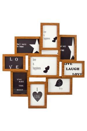 Фоторамка-коллаж для 10 фото Русские подарки. Цвет: черный, коричневый, белый