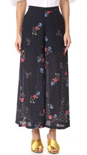 Широкая юбка-брюки N/ с изображением цветков примулы Nicholas. Цвет: цветочный принт в виде примулы