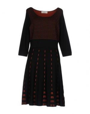Платье до колена CORTE dei GONZAGA. Цвет: черный