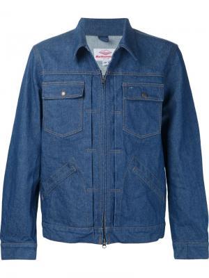 Джинсовая куртка на молнии Battenwear. Цвет: синий