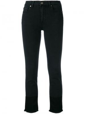 Укороченные джинсы с необработанными краями Paige. Цвет: чёрный