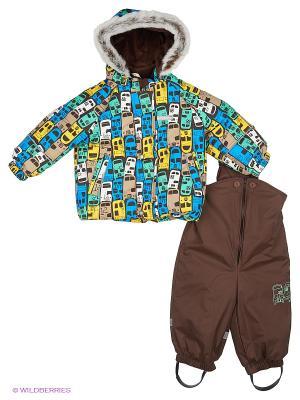 Комплект одежды Kerry. Цвет: коричневый, голубой